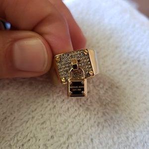 Michael Kors padlock wide band ring